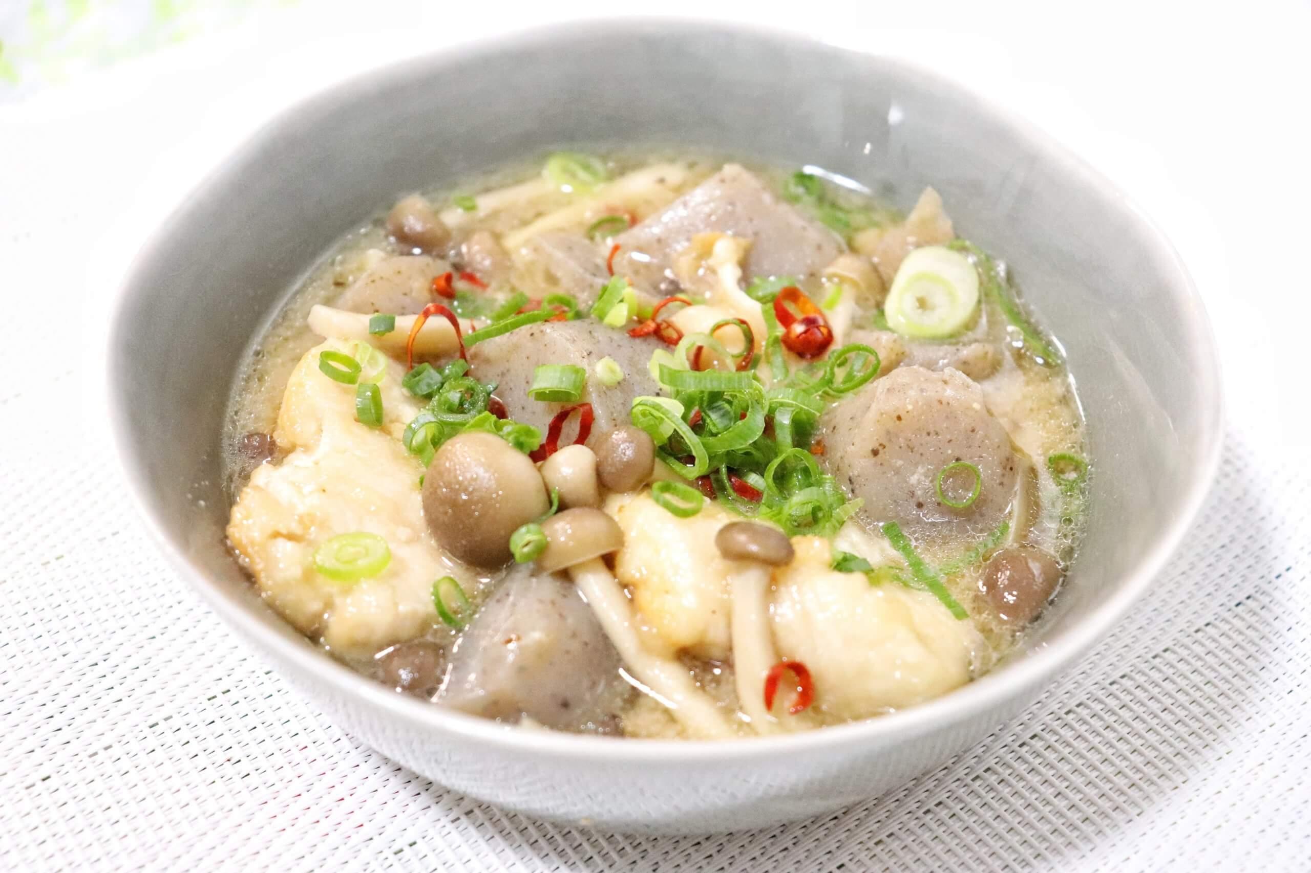 鶏胸肉とこんにゃくの味噌煮