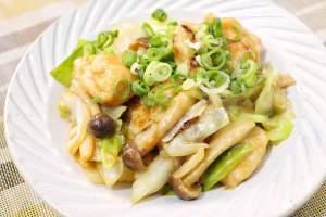 鶏胸肉とキャベツの味噌炒め