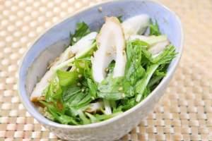 ちくわと水菜のごまサラダ