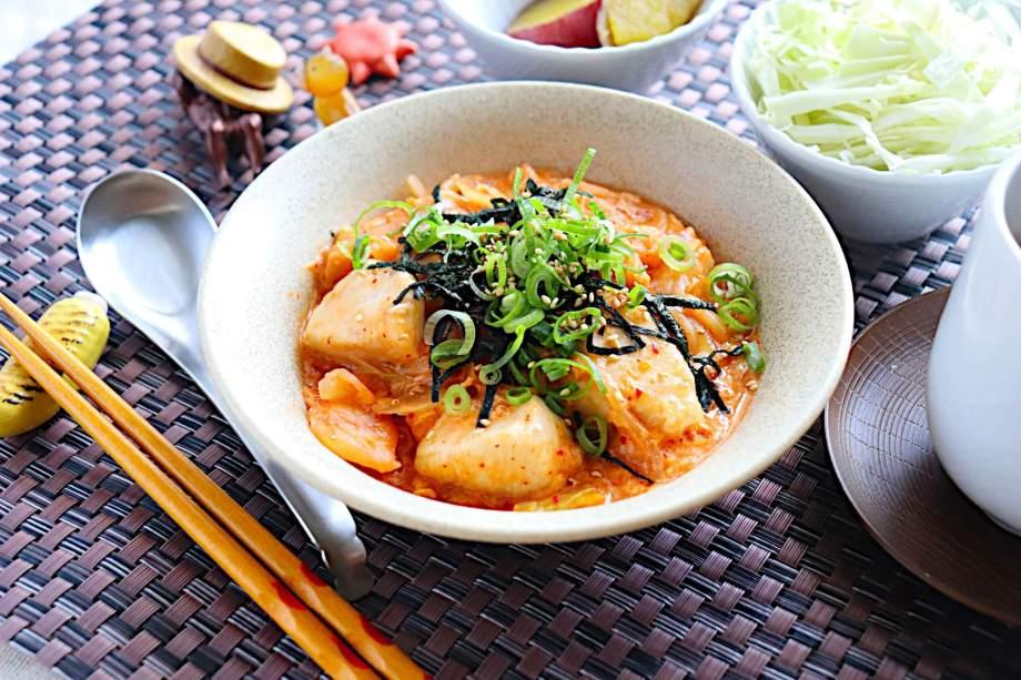 鶏胸肉と玉ねぎの韓国風卵とじ