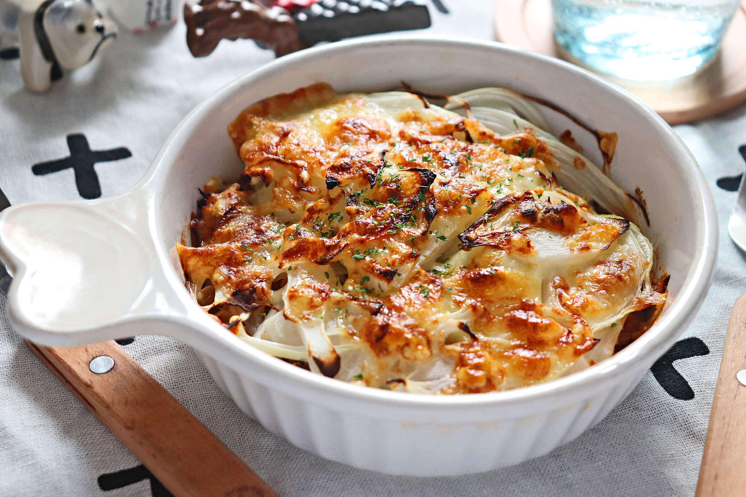 ツナと里芋の味噌グラタン