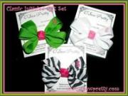 initialed classic hair bow