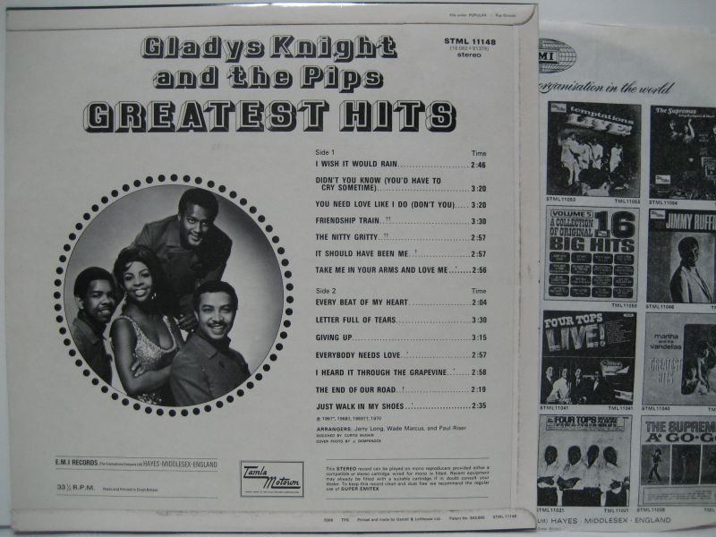 Gladys Knight & The Pips  Greatest Hits 大塚レコード