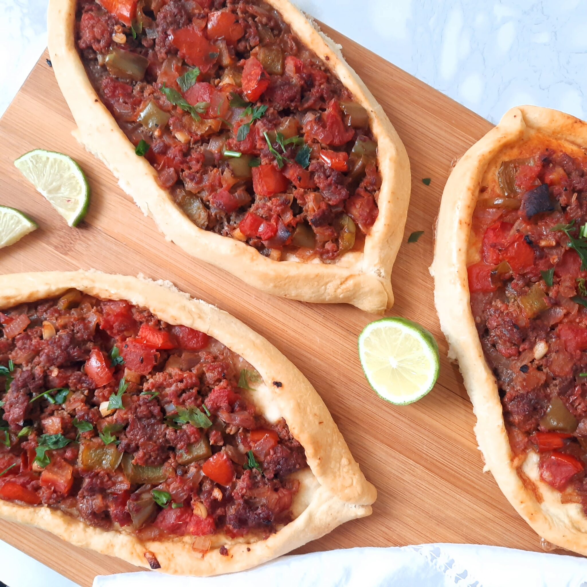 Kiymali Pide: Delicious Turkish Flatbread filled with Meat