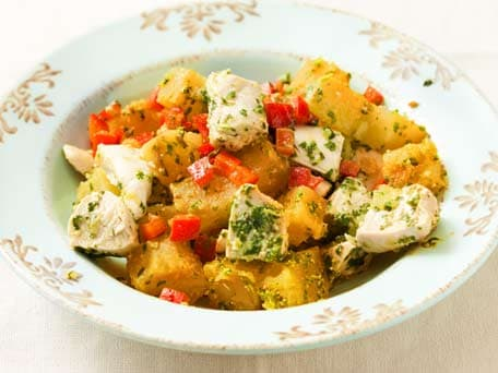Chicken & Sweet Potato Salad with Pesto Vinaigrette