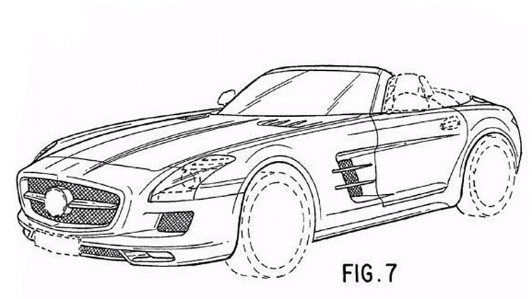 Mercedes SLS AMG Roadster final form revealed in patent
