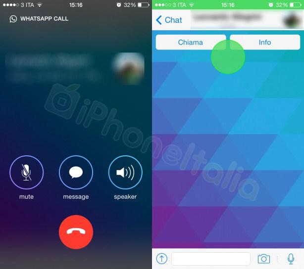 Las llamadas VoIP de WhatsApp en iOS aparecen en unas imágenes filtradas