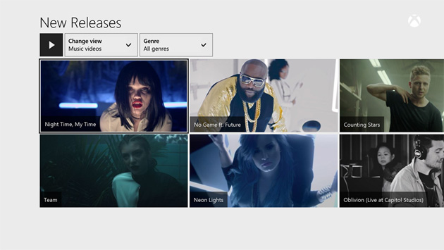 Music videos on Xbox Music for the Xbox One