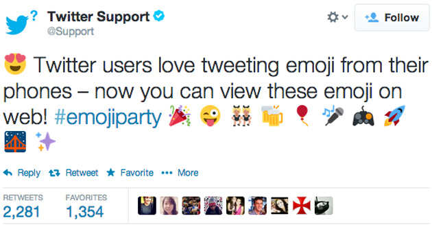 Twitter shows off emoji on the web