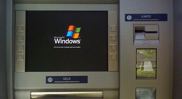 German ATM running Windows XP