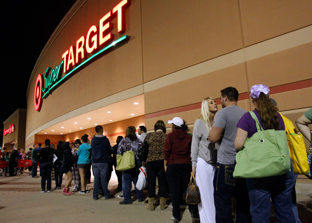 Target store during Black Friday