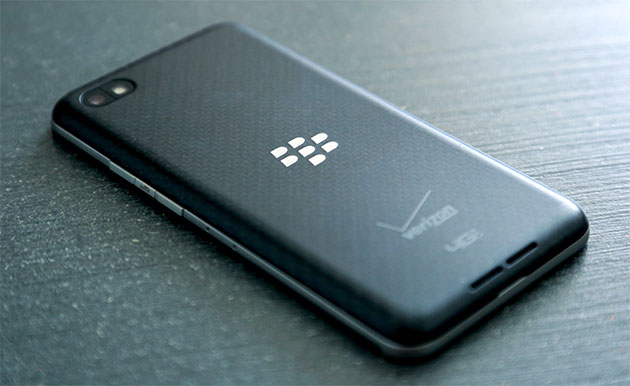 BlackBerry Z30 on its face