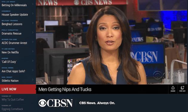 Le prese di CBS su HuffPost vivono con la sua propria rete scorrente di notizie