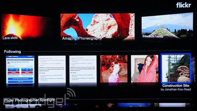 Flickr's redesigned Apple TV app