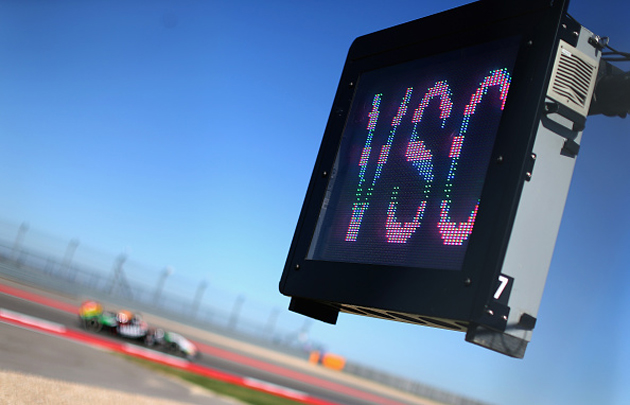F1's virtual safety car sign at the US Grand Prix