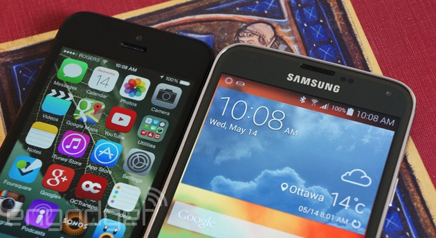 iPhone 5 and Galaxy S5