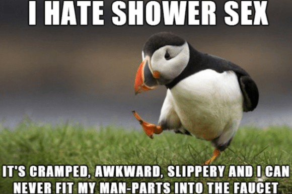 things every man does in the shower, shower sex