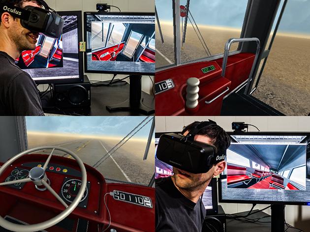 Desert Bus VR in 'action'