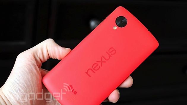 LG's Nexus 5 in red