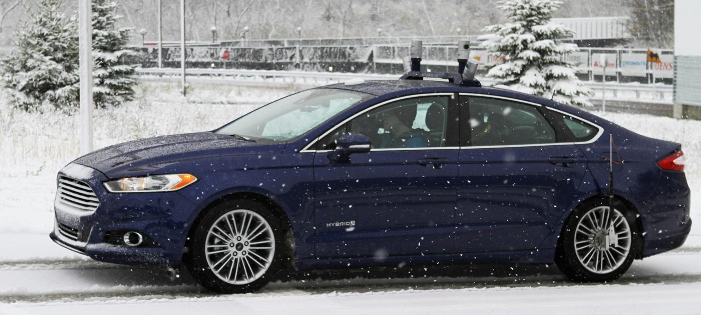 Ford sta collaudando le automobili autonome nella neve