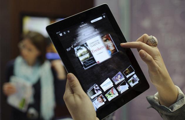 An e-book app on an iPad