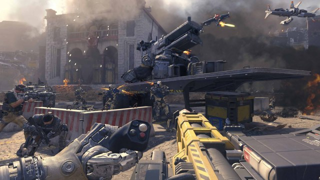 A street fight in 'Call of Duty: Black Ops 3'