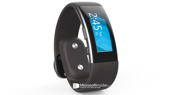 Microsoft Band 2 in a leaked shot