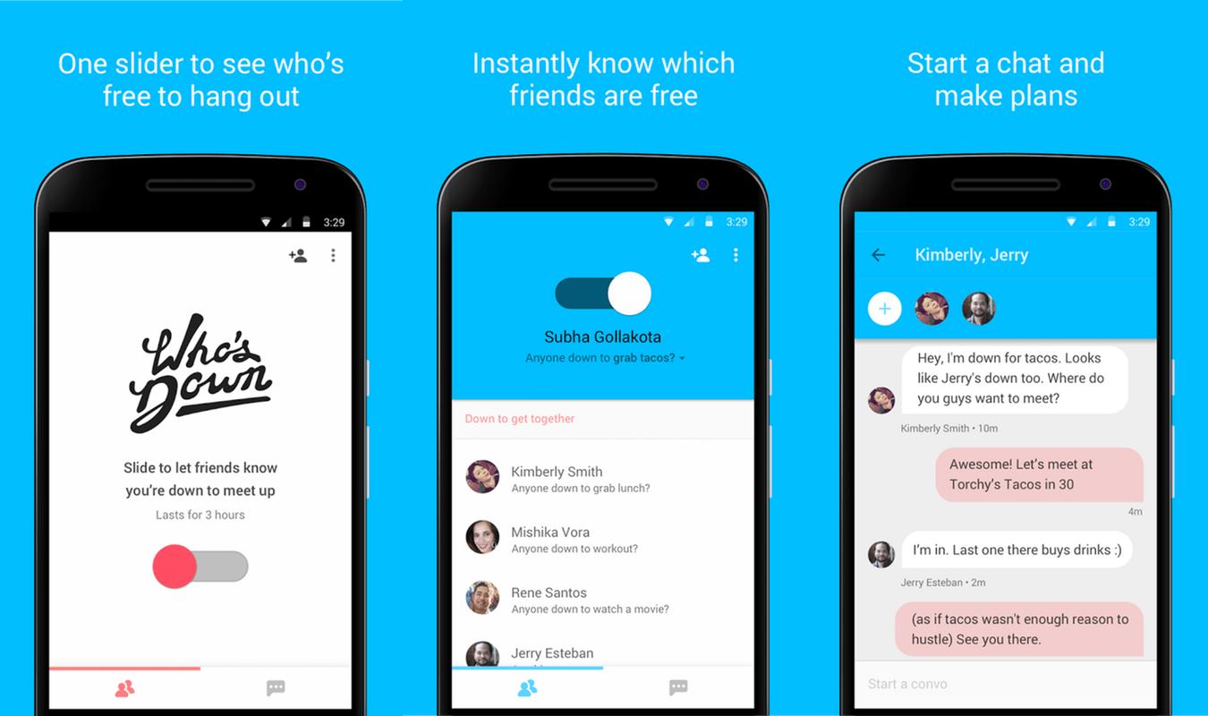 "Google ""chi è giù"" il app è qui perché nessuno risponde ai vostri testi"