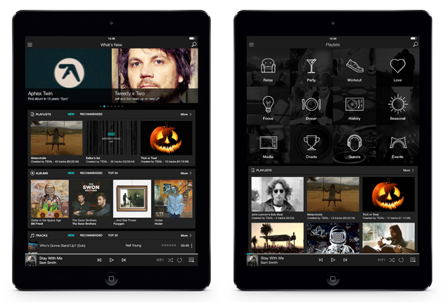 Tidal's iPad app