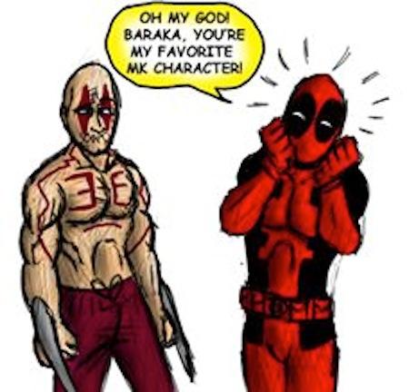 superheroes being super a-holes, superheroes being jerks funny, deadpool baraka mortal kombat
