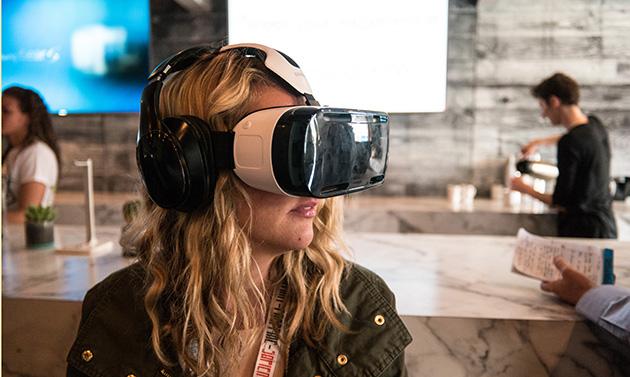 Person testing virtual reality