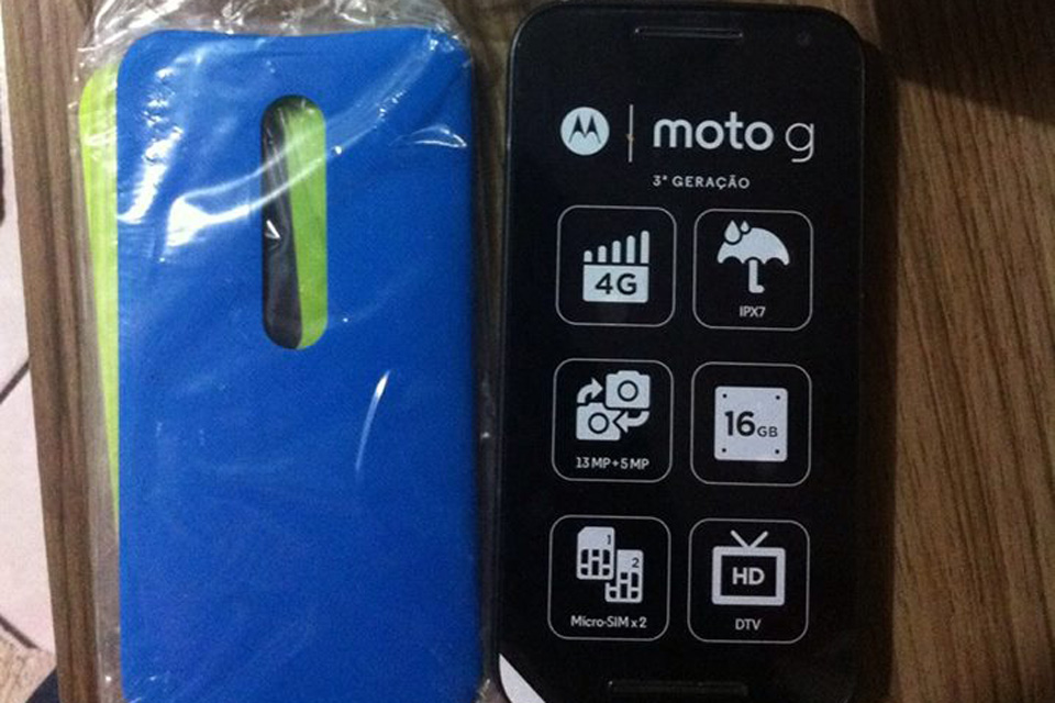 Moto G 3rd-generation out of the box
