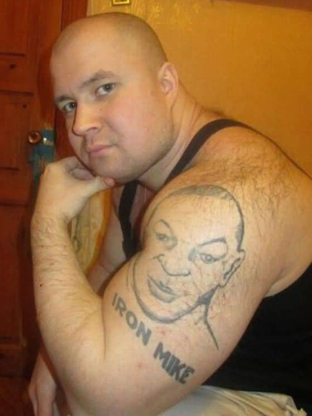 worst tattoos of celebrities, mike tyson
