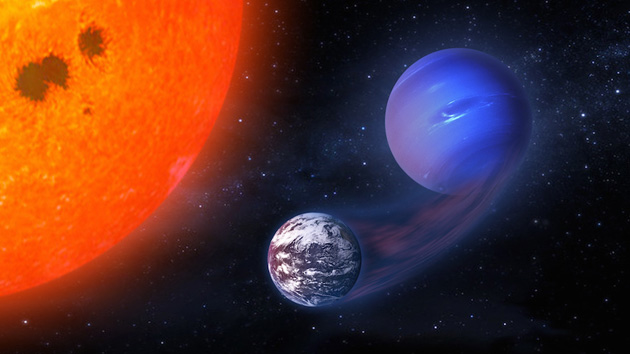 Gas planet becoming habitable