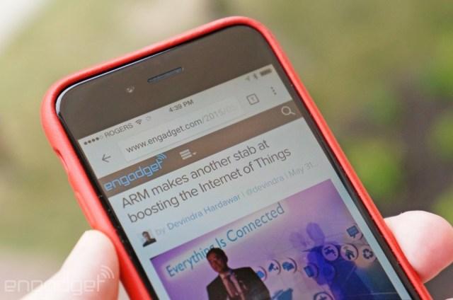 Chrome on an iPhone
