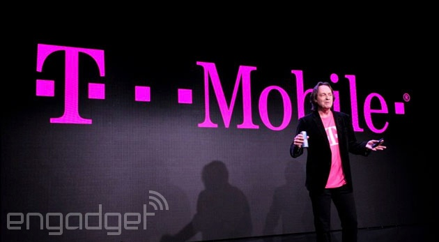 T-Mobile's John Legere presents with drink in hand