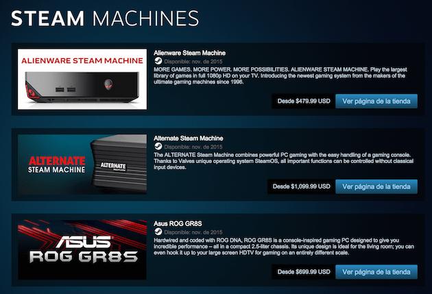 Las Steam Machine llegarán el 10 de noviembre a las tiendas
