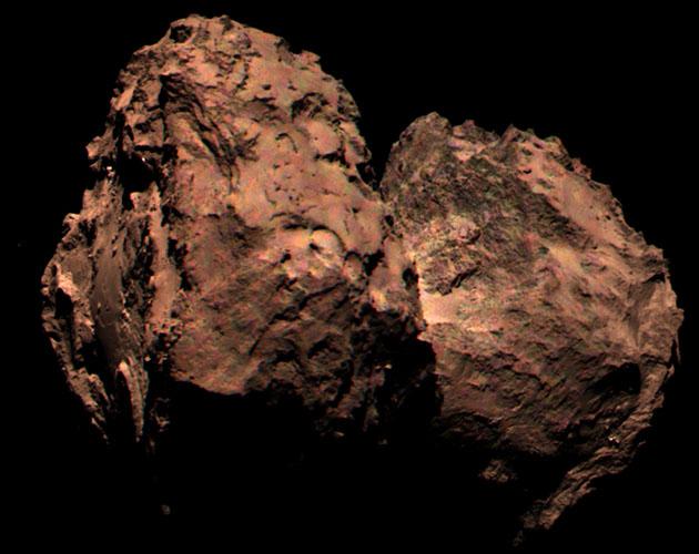 La macchina fotografica di Rosetta prende la prima immagine di colore della sua cometa