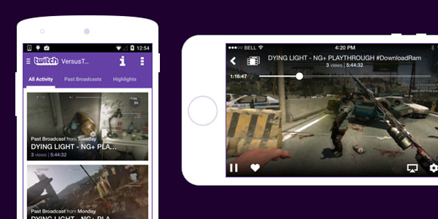 Twitch video on demand for mobile