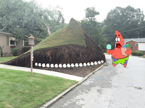 This Picture Of Ripped Up Lawn Is Photoshopped