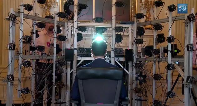 Qui è come il primo ritratto presidenziale 3D printed è stato fatto
