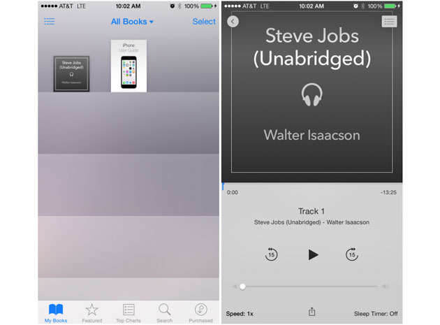An audiobook in iOS 8.4