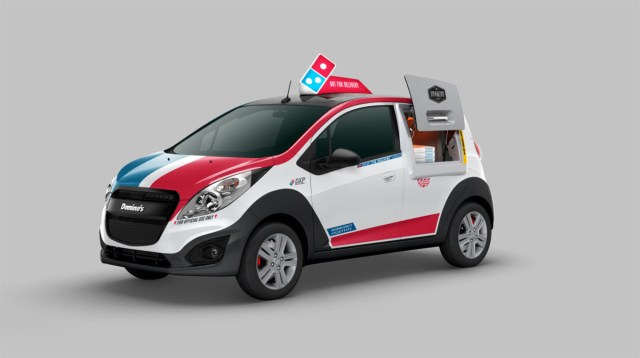 The Domino's Pizza DXP delivery car