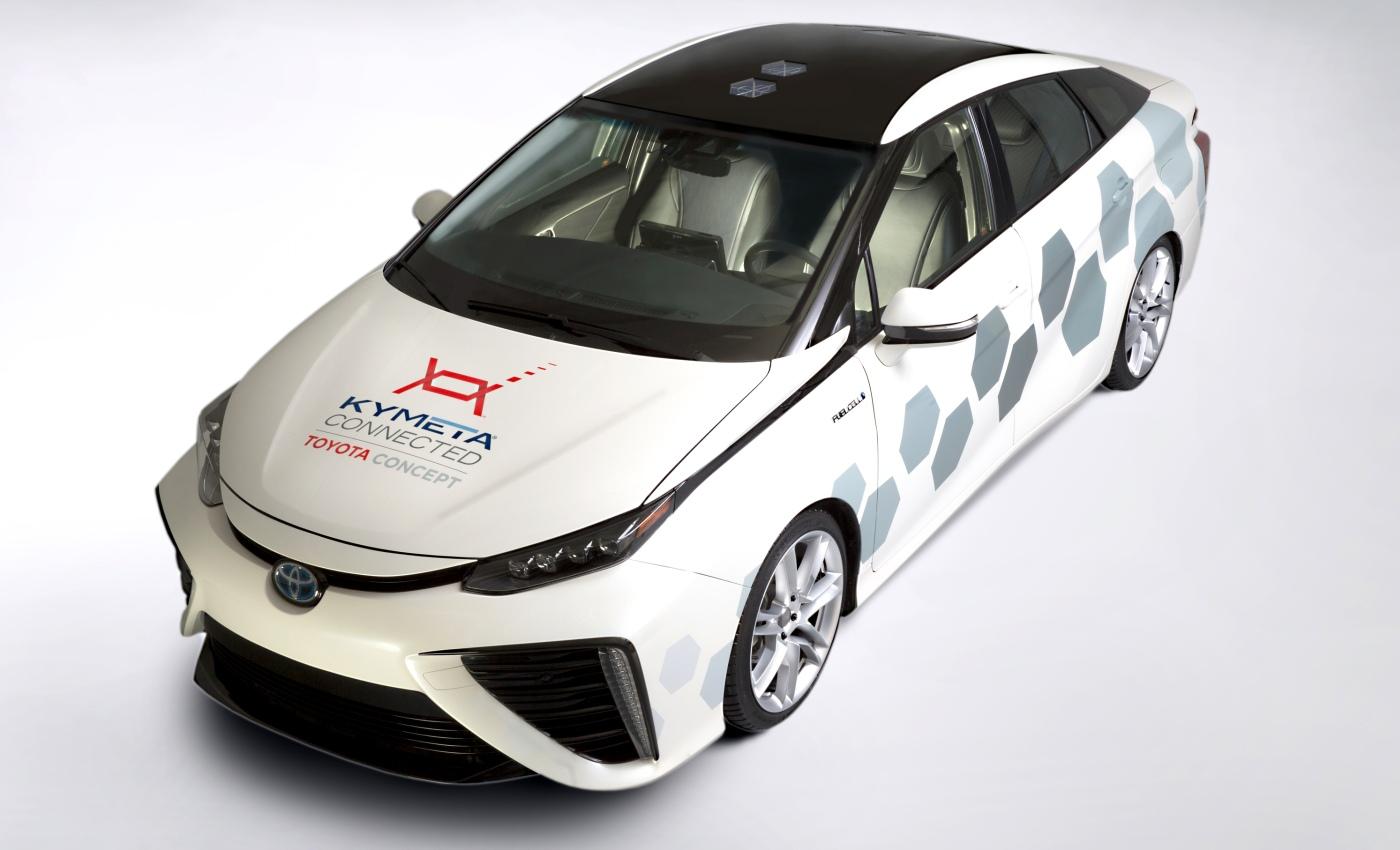Giochi di Toyota Mirai di Kymeta bene con i satelliti