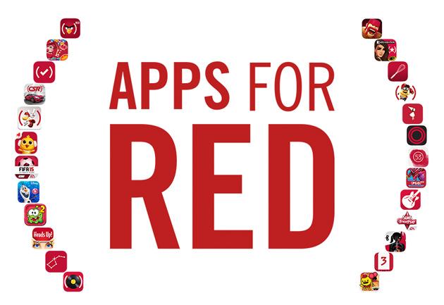 Partner di Apple con gli sviluppatori importanti di app per raccogliere fondi per ricerca dellAIDS