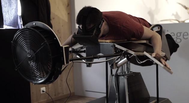 Birdly VR flight machine