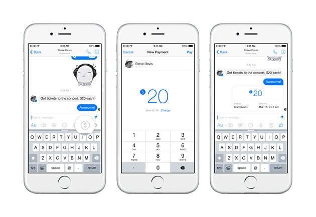 Facebook Messenger payments
