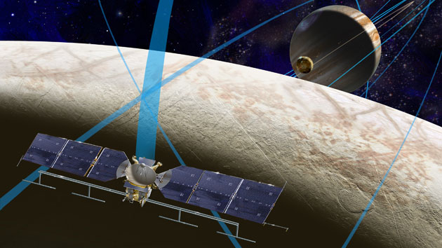 A future NASA probe orbits Europa