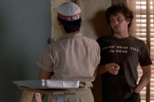 MENS Memorable Shirts 05 05 gimmeheadtillimdeadrevengeofthenerds The 25 Most Memorable Movie T Shirts