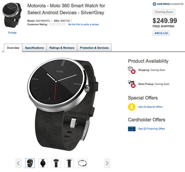 Moto 360 at Best Buy